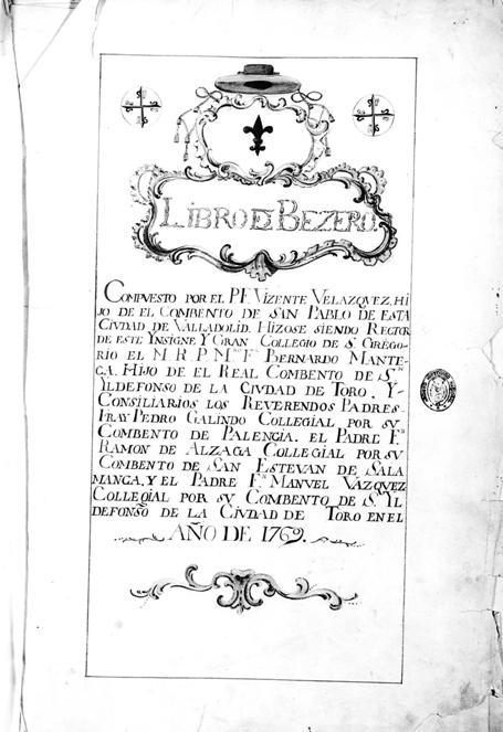 Fray Vicente Velázquez (O. P., 1706-1773), autor de becerros, una vida dedicada a los archivos