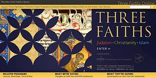 Three Faiths: Judaism, Christianity, Islam